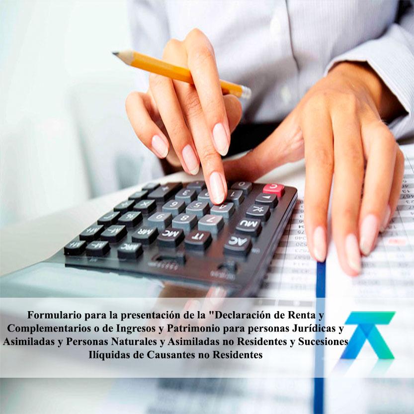 Formulario para la presentación de la Declaración de Renta y Complementarios