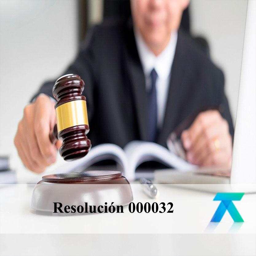 Resolución 000032 del 23-05-2018