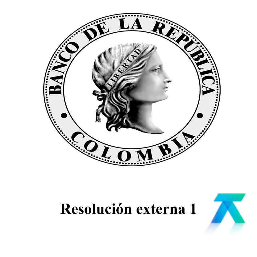 Resolución externa 1 de 2018 modificación Cambiaria