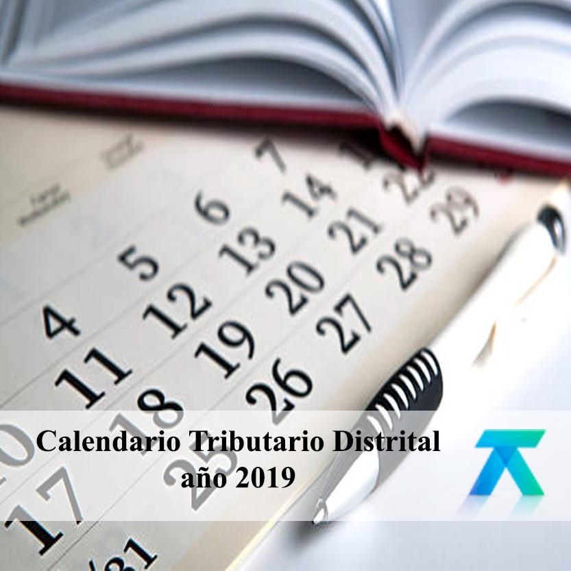 Calendario Tributario Distrital año 2019
