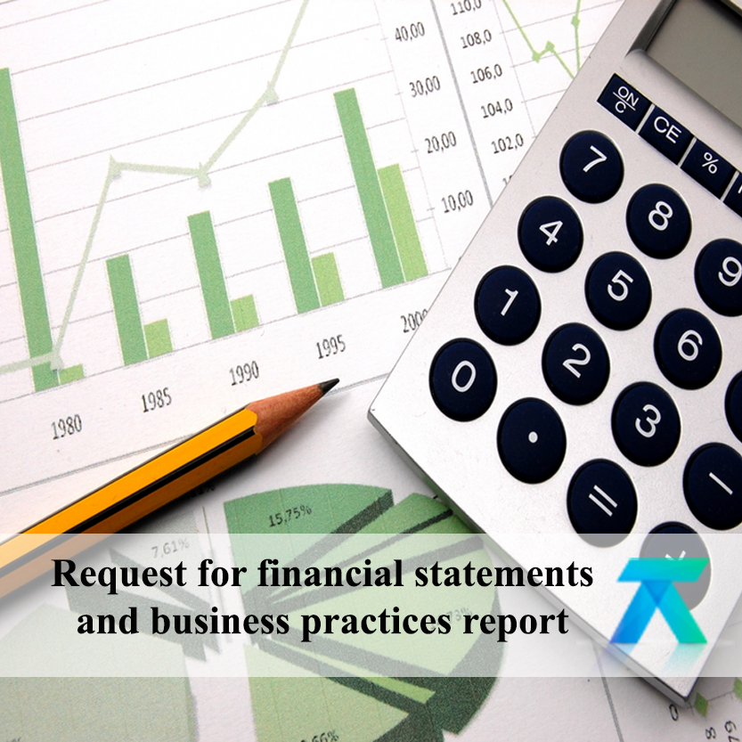 Application for financial statements 2018