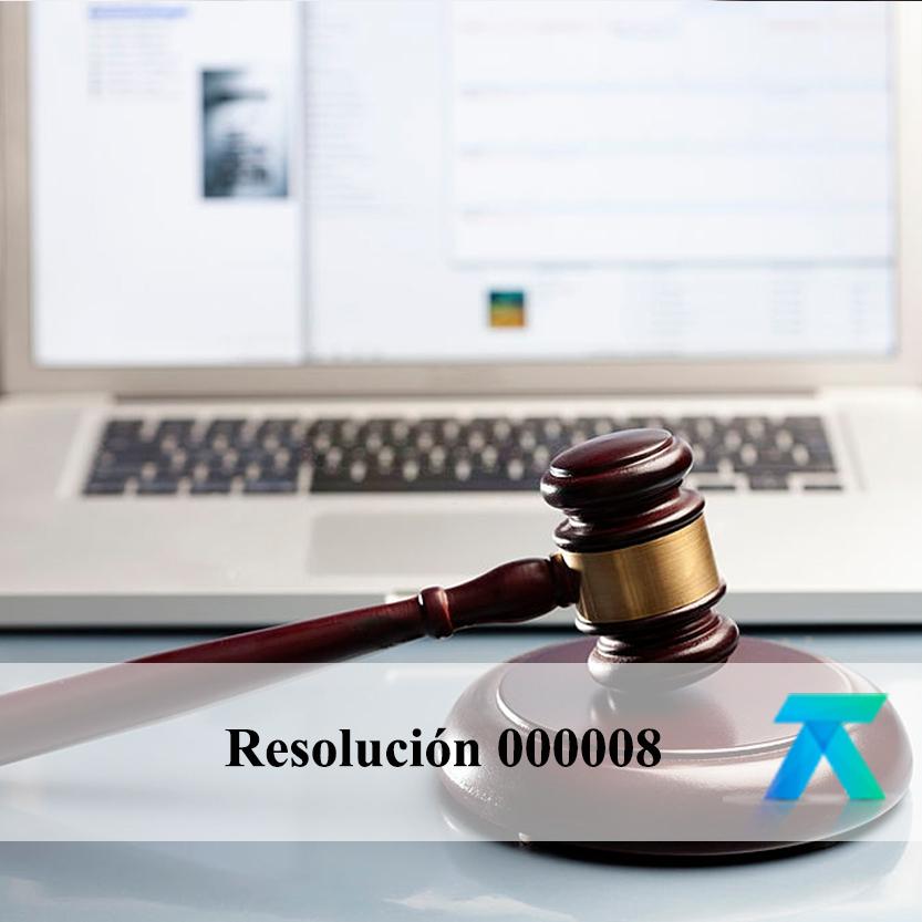 Resolución 000008