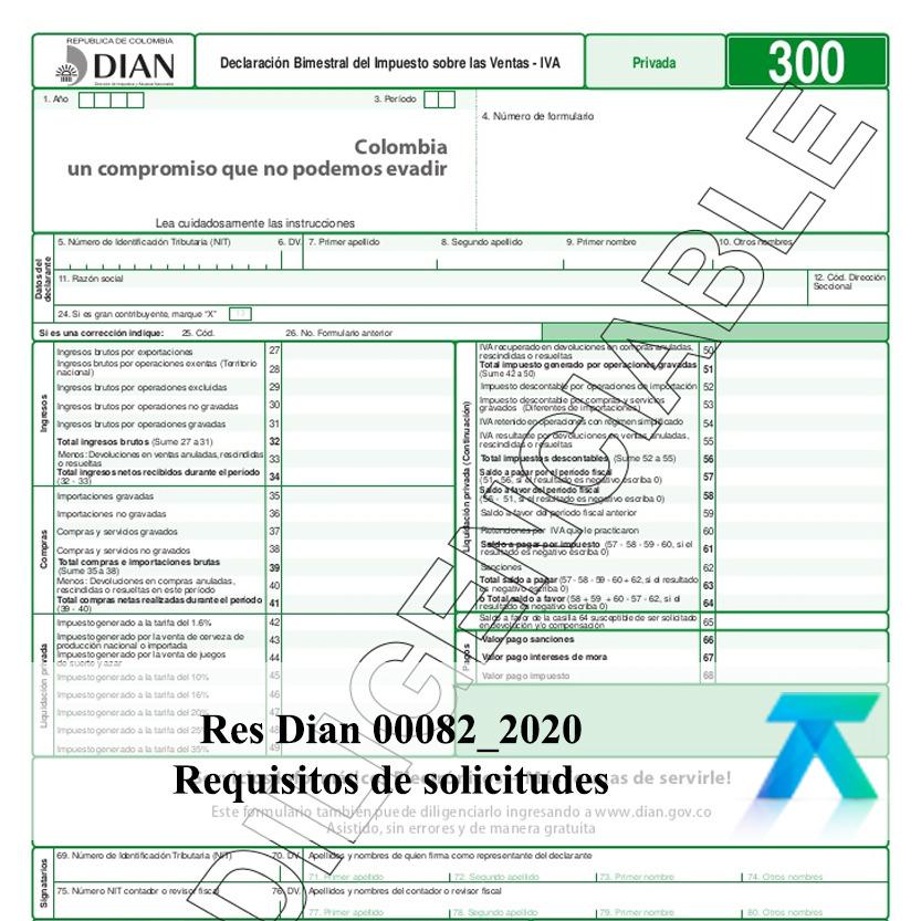 resolución 082 de 2020 emitida por la DIAN