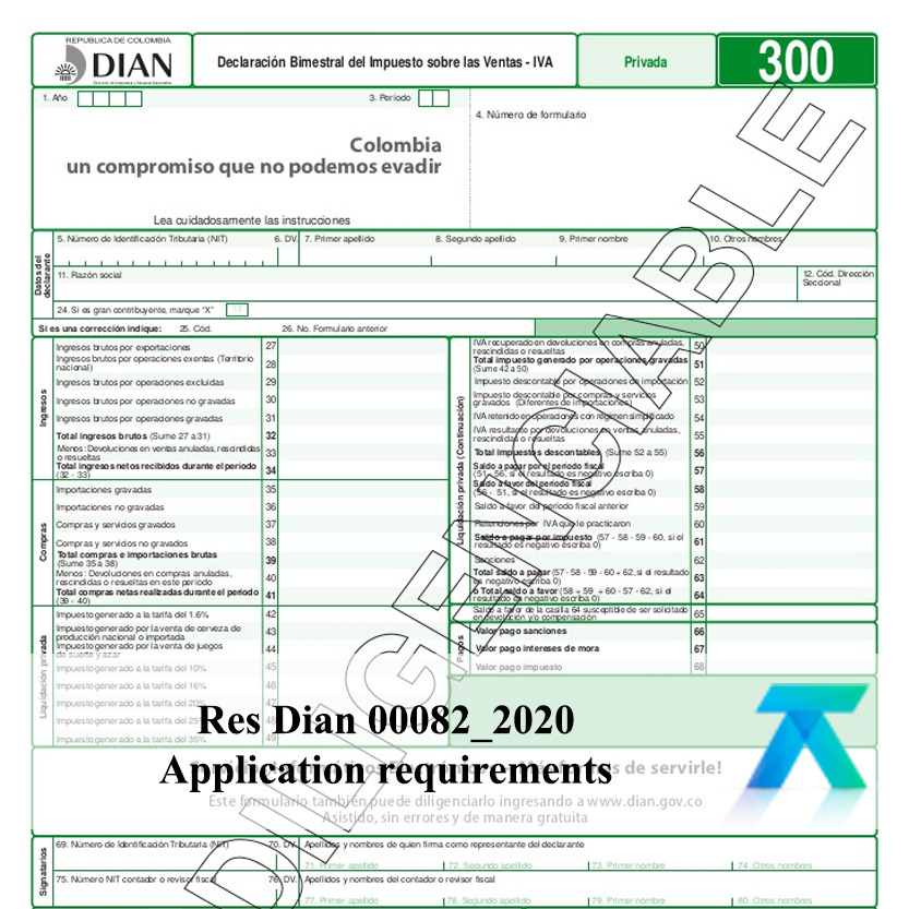 resolution 082 of 2020 issued by DIAN