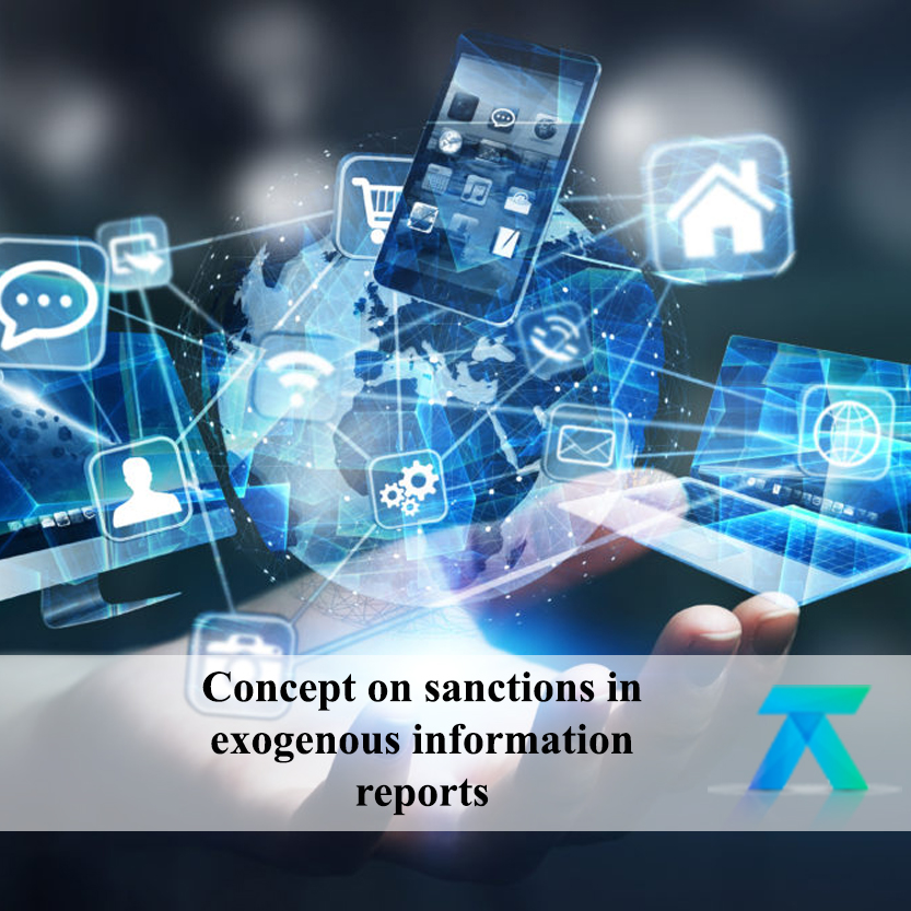 Concept on sanctions in the reports of exogenous information.