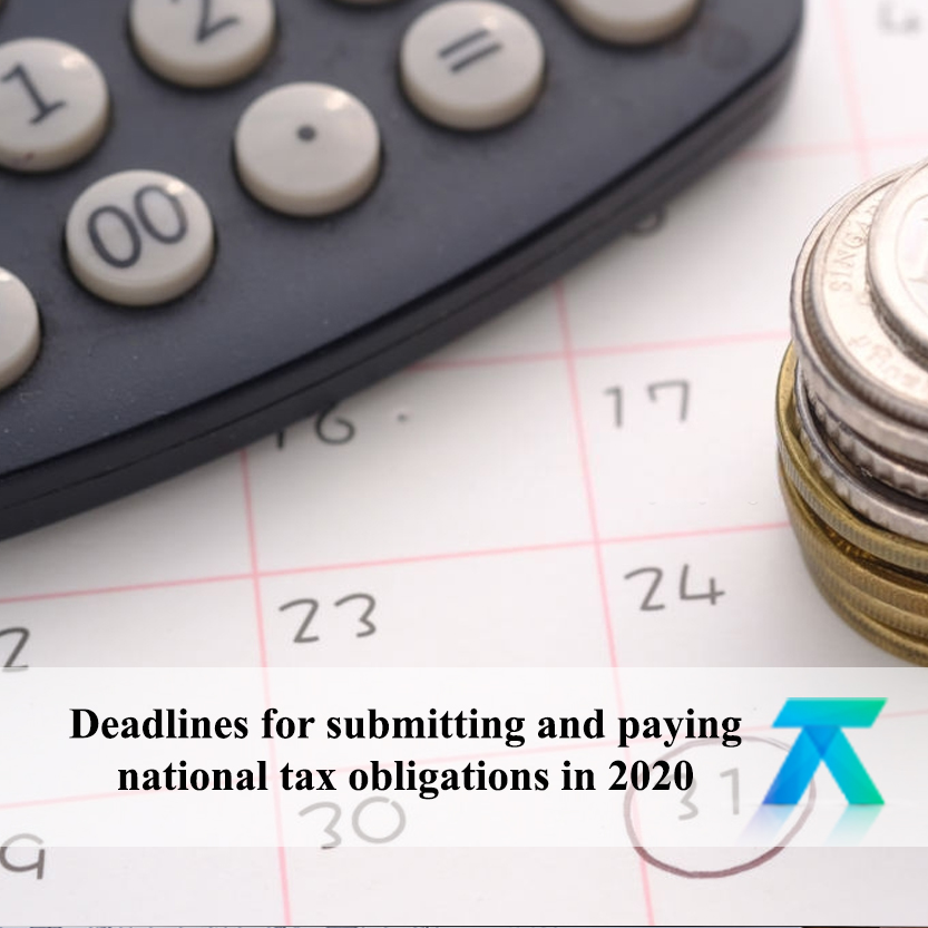 Deadlines for national tax obligations