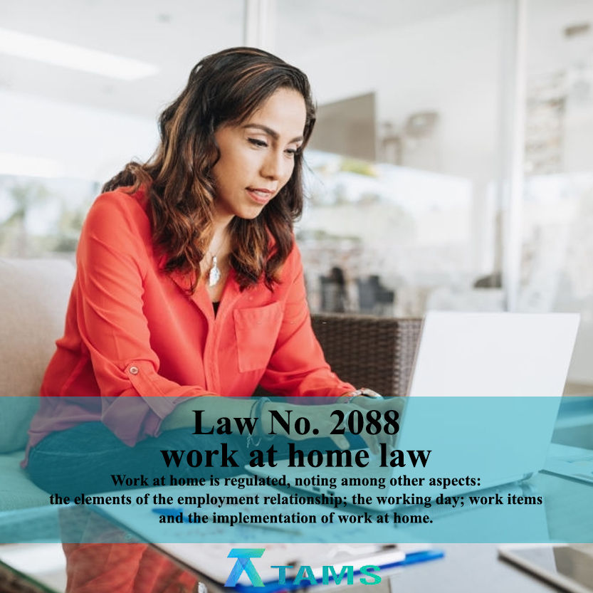 Law No. 2088 work at home law Work